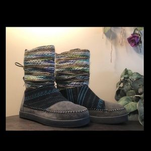 Size 8 Gray Multicolor TOMS Nepal Winter Boots